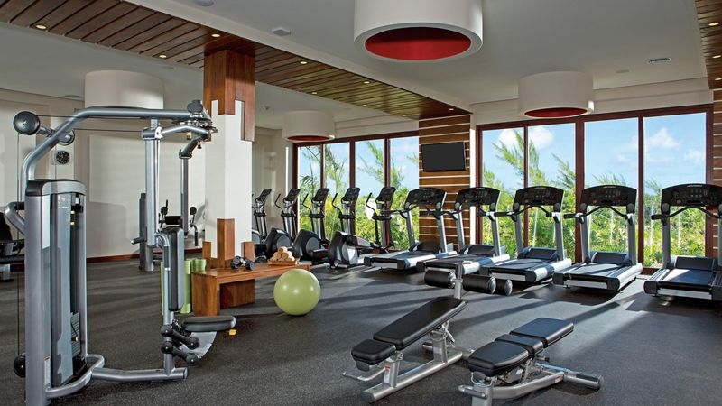 luxury resort fitness center