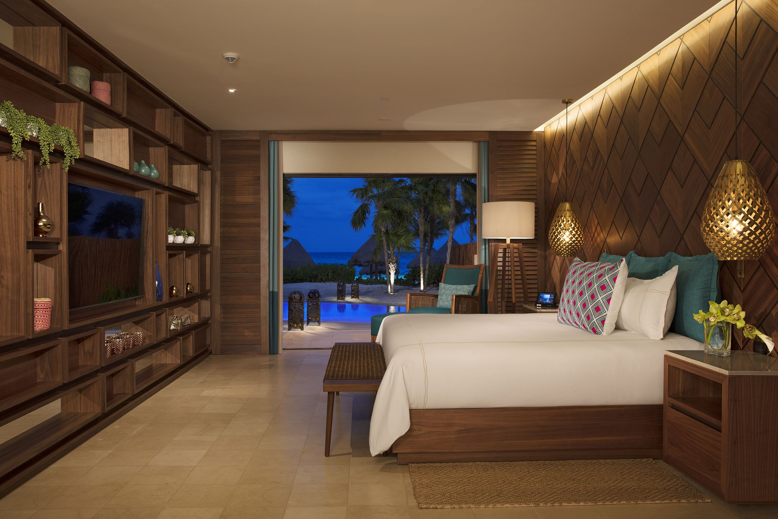 Luxury Resort Suite At Night