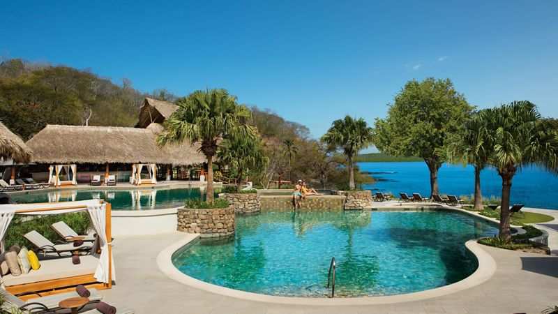 luxury resort pool in costa rica
