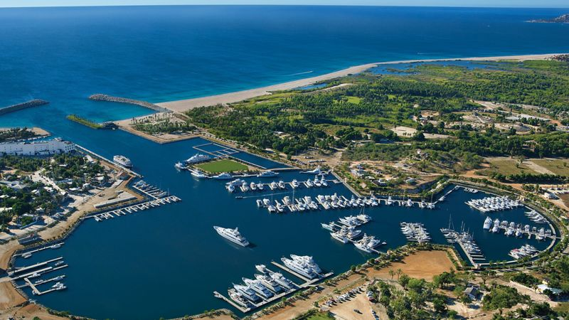 Aerial view of Cabo marina